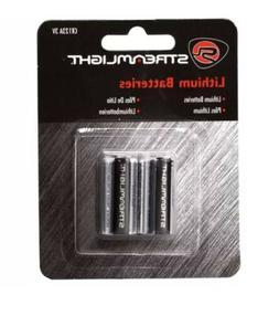 Streamlight CR123A 3V Lithium Batteries - 2  Packs 4 Batteri