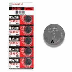 Maxell CR2032 5 pack 3V 220mAh Lithium Coin Button Cell Micr