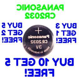 Panasonic CR2032 Battery 3V EXP 2027 Coin Lithium CR 2032 Bu