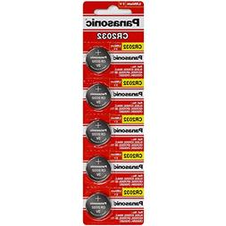 6 Pack -- Panasonic Cr2032 3v Lithium Coin Cell Battery Dl20