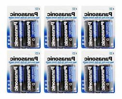 Panasonic D Batteries Super Heavy Duty Battery Pack, of 6