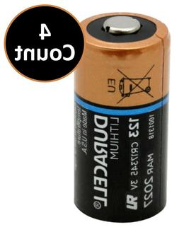 Duracell DL123A Lithium Battery CR123A - 4 Count Batteries -