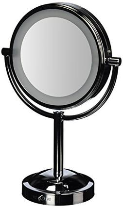 Conair Double-Sided Battery-Operated Lighted Makeup Mirror,