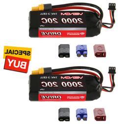 Venom DRIVE LiPo Battery 2S 1P 7.4V 2000mAh 20C w/ Universal