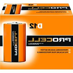 Duracell Procell Size D Alkaline Battery -- 72 per case.
