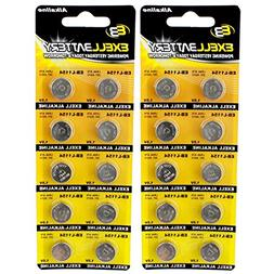 2pc 10pk Exell EB-L1154 Alkaline 1.5V Watch Battery Replaces