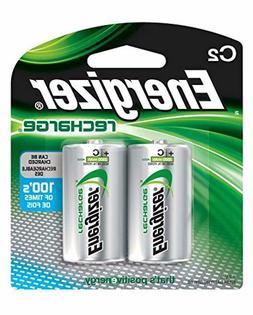 Energizer Recharge C Batteries 2 Pack