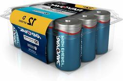 12-Pack of RAYOVAC D HIGH Energy Alkaline Batteries. Unopene