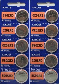 **FRESH NEW** 10 x SONY CR2025 Lithium Battery 3V Exp 2029 P