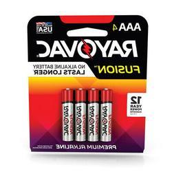 Rayovac  Fusion  AAA  Alkaline  Batteries  4 pk Carded