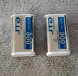 Genuine NIMH 9v Rechargeable Batteries actually 8.4v 900MAH