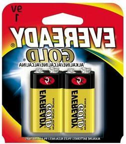 Pack of 2 Eveready Gold Alkaline Batteries 9 Volt
