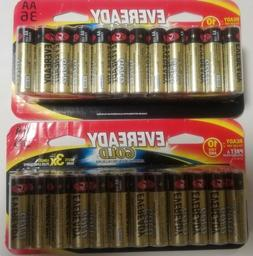Eveready Gold AA Alkaline Batteries, 36 Count