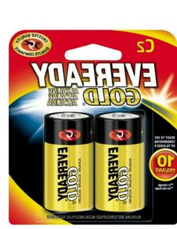 Eveready Gold Alkaline Batteries C 2 ea Exp. 12/2028