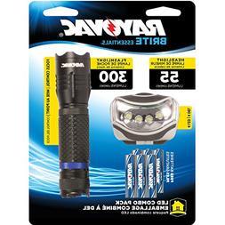 300-Lumen LED Handheld Flashlight & Headlight Combo