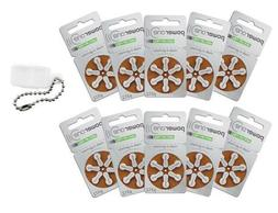 Powerone  Hearing Aid Batteries Size 312 Pack of 60 + FREE B