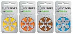 PowerOne Hearing Aid Batteries Type: p10, p13, p312, p675.