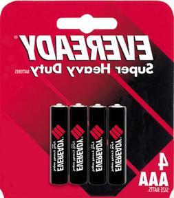 Eveready Heavy Duty 1212BP-4 AAA Batteries
