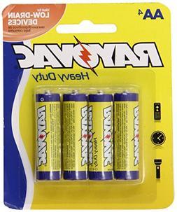 Rayovac Heavy Duty AA Batteries, 5AA-4D, 4-Pack