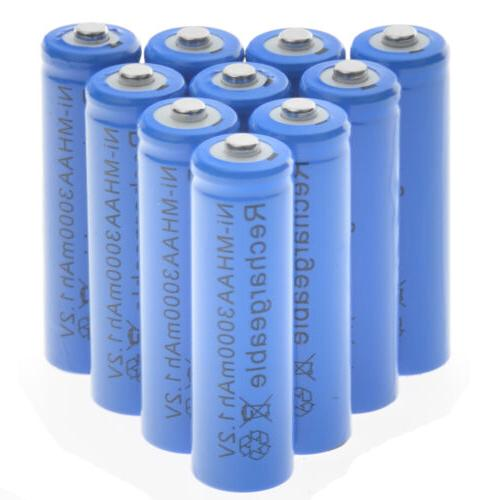 10 Rechargeable NiMH Solar Ni-MH CA