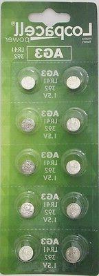 10 LOOPACELL AG3 LR41 392 CX41 SR41SW SR736 1.5V Alkaline Wa