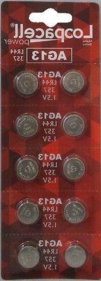 10 Pack LOOPACELL AG13 LR44 357 Button Cell Batteries