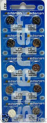 10 Pcs 371 Renata Silver Oxide Watch / Electronic 0% MERCURY