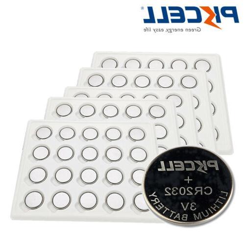100x cr2032 erc2032 3v lithium coin battery