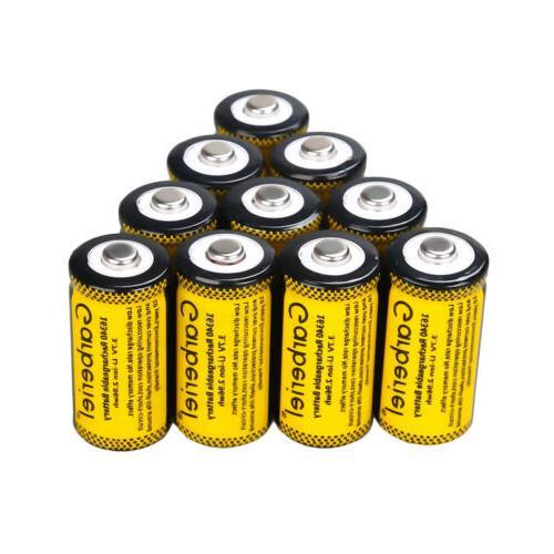 10PCS CR123A Efficient 1800mAh 3.7V 16340 CR123A Rechargeabl