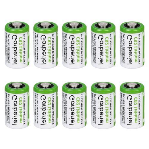 10PCS Batteries 750mAh 3V Lithium CR2 Camera Toys Expiration