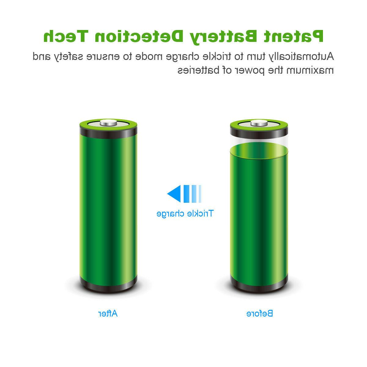 Lot EBL Ni-MH Rechargeable Slot Smart Charger for Flashlight