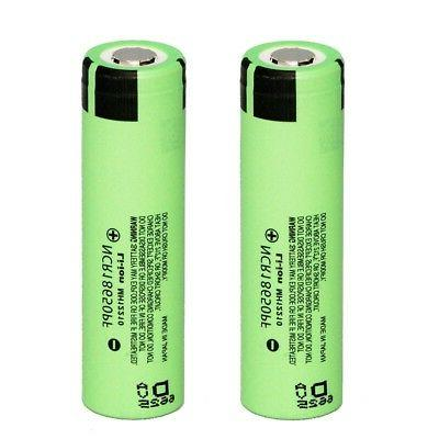 2 18650 lithium ion rechargeable batteries ncr18650pf