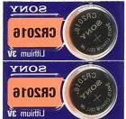 2 SONY CR2016 DL2016 CMOS Lithium 3V Watch Battery Exp 2024