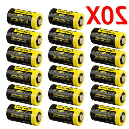 20 X CR123A Garberiel 3V Lithium Camera Batteries
