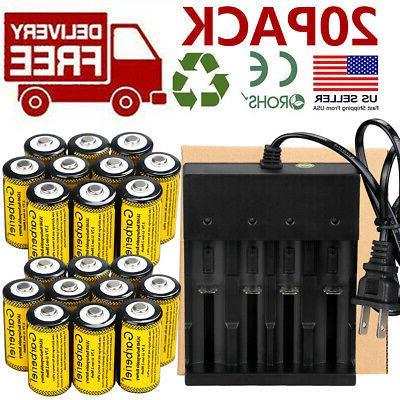 20x CR123A 3.7V Rechargeable Batteries for Netgear Arlo Secu