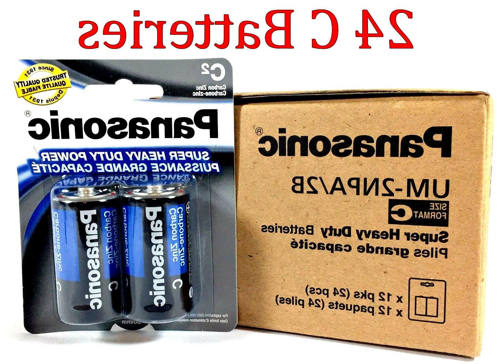 24 Wholesale C Panasonic Battery Batteries Super heavy duty