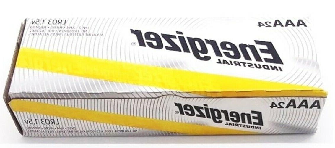 24 industrial aaa alkaline batteries en92 lr03