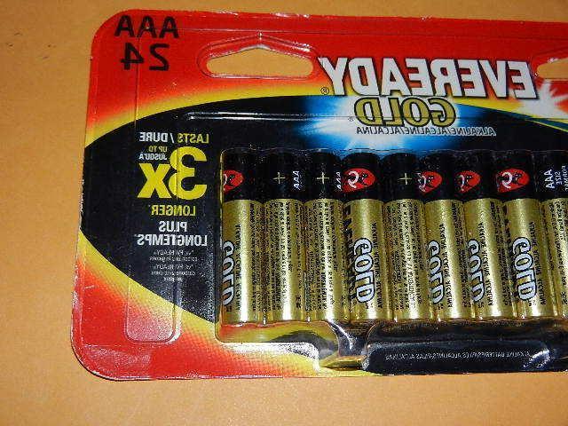 24 new Eveready Alkaline Batteries exp.