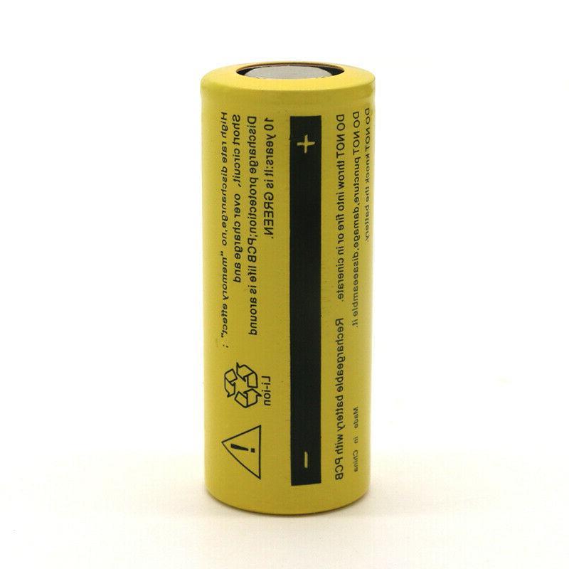 26650 12800mAh Flat Top Li-ion 3.7V Cell USA