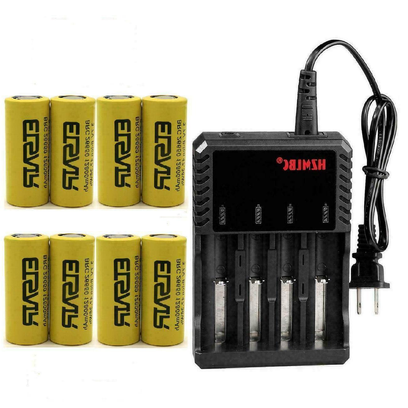 26650 battery 12800mah flat top li ion