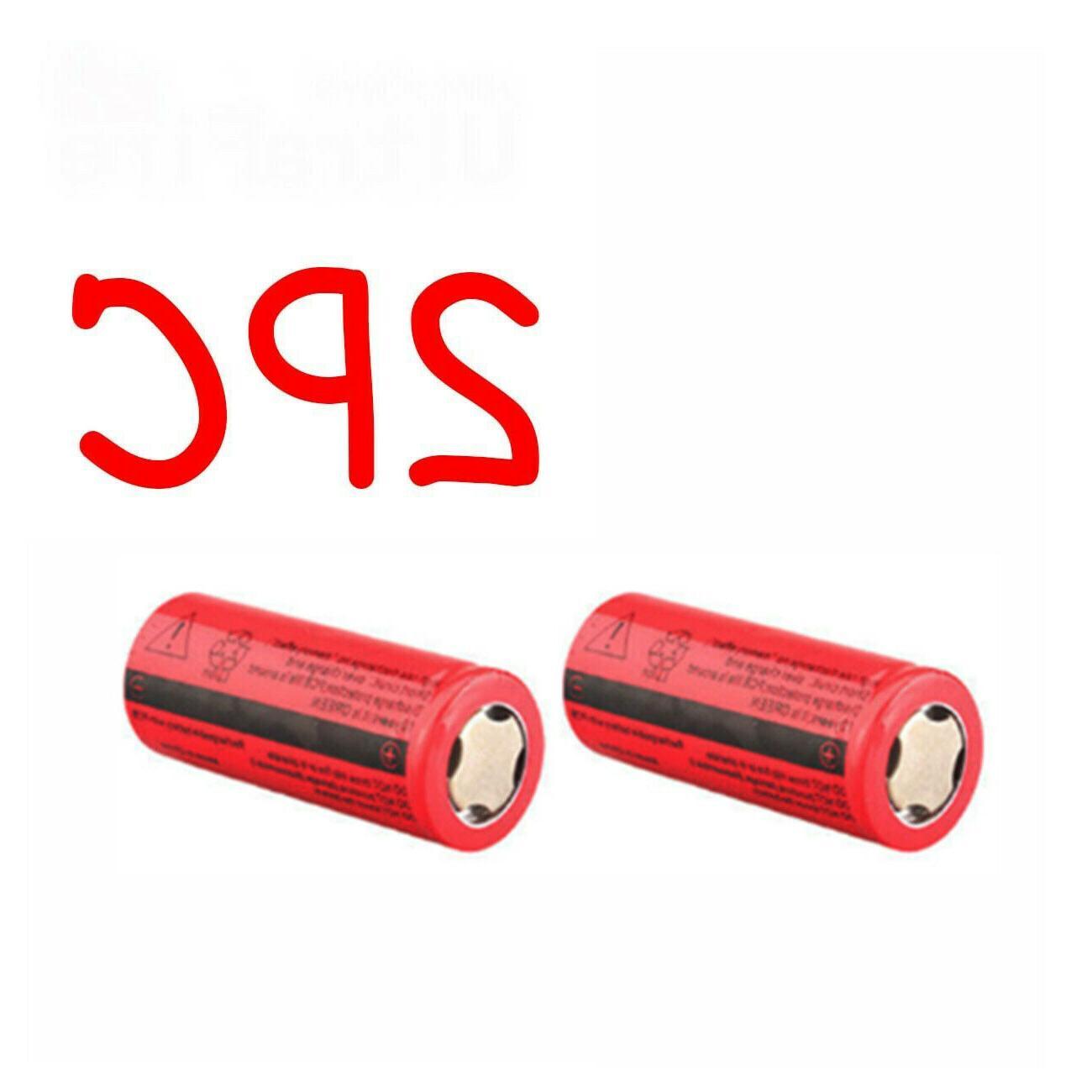 26650 Battery 3000mAh 3.7V Flat Top Batteries For