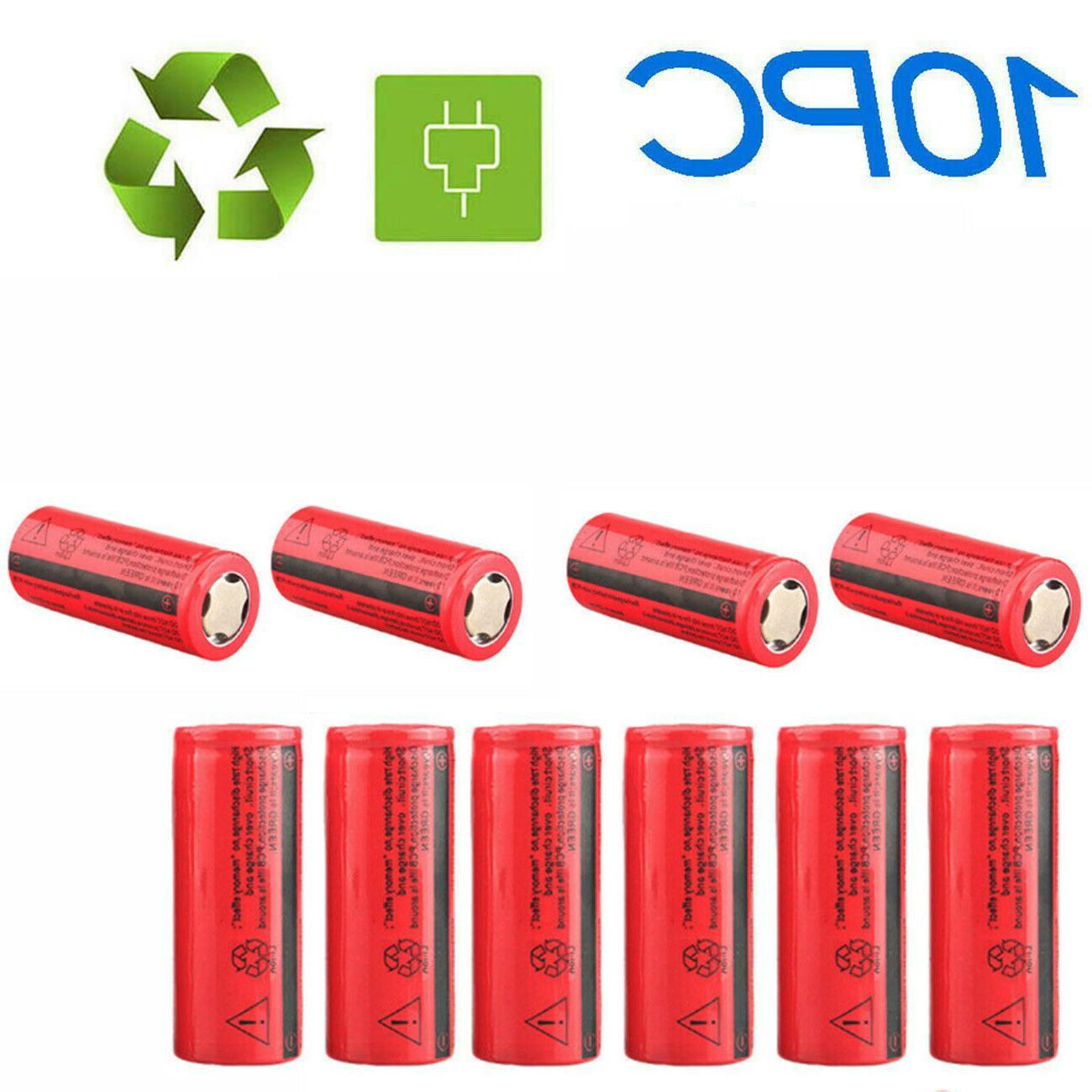 26650 3000mAh Flat Li-ion Batteries Torch