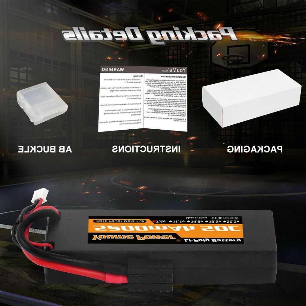 2pcs 5200mAh LiPo Battery 50C Traxxas Hardcase for Truck