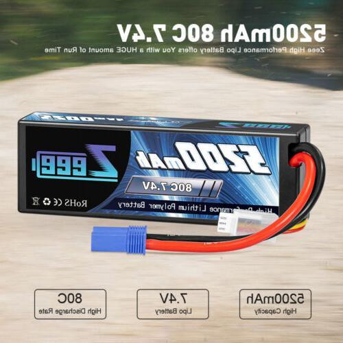 2pcs 5200mAh 2S Hardcase for RC Car