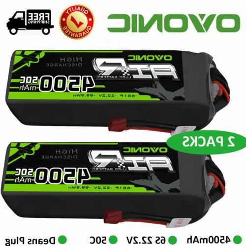 2X 22.2V Lipo Battery Pack Deans for Car Heli