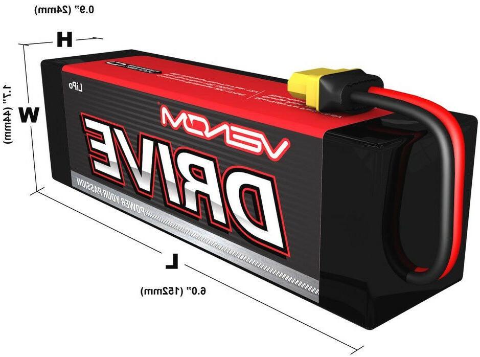 2x Venom 50C 3S Lipo Battery Plug VNR15173