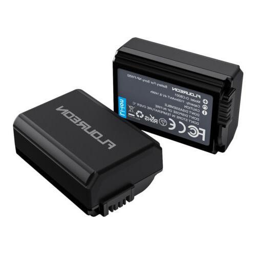 2X 1100mAh Camera Battery for Sony A6000 A6500 A7 A7II A7R A