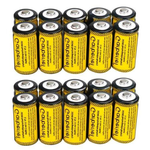 20PCS 16340 CR123A 3.7V Li-Ion Rechargeable Battery for Arlo