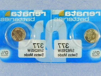 377 sr626sw batteries button cell 2pcs