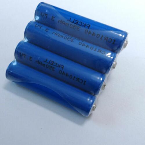 4 350mah aaa 10440 3 7v rechargeable